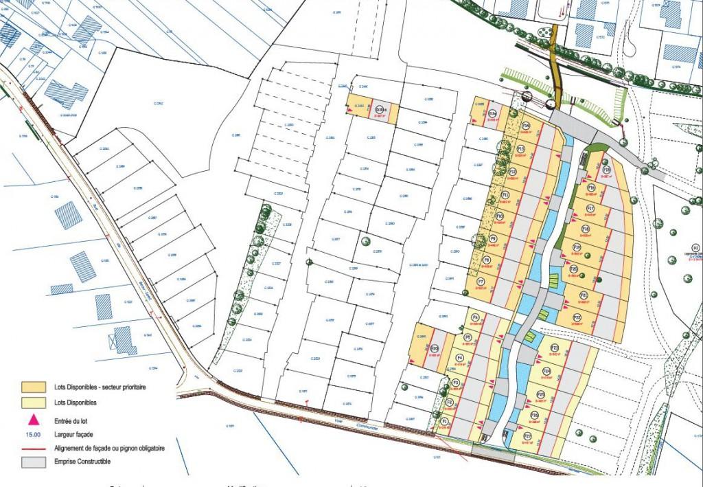 tranche 3 ZAC de Beausoleil Plan Commercialisation